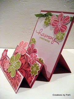 how to make different types of greeting cards beautiful stair step card with cutting and scoring