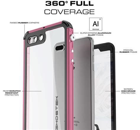 ghostek atomic 3 0 iphone 7 plus waterproof tough pink