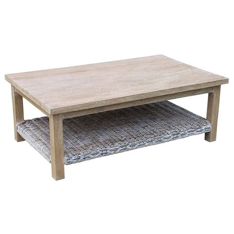 Whitewash Coffee Table Kubu Whitewash Coffee Table Decofurn Factory Shop