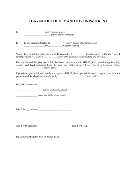 Blank Eviction Notice Exle Mughals Free 3 Day Notice Template