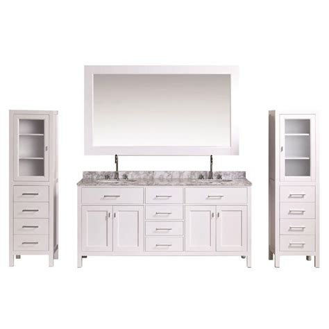 design element london 30 in w x 22 in d makeup vanity in design element london 72 in w x 22 in d vanity in white