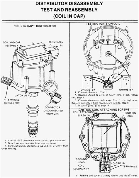 gm hei coil in distributor cap wiring diagram wiring