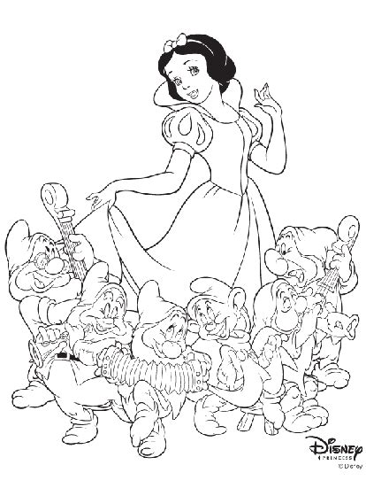 disney princess snow white coloring page crayola com
