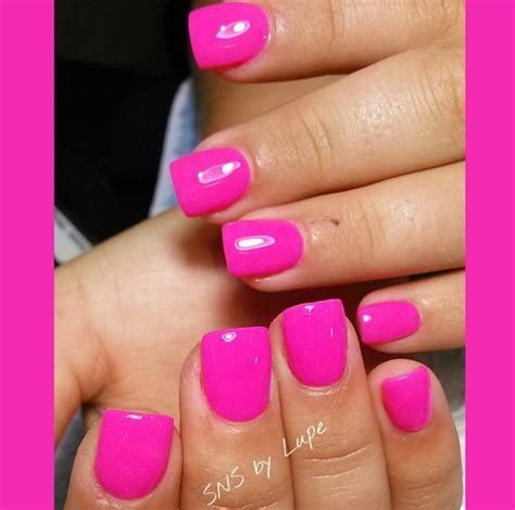 color nails and spa pink sns nails nails in 2019 nails sns nails