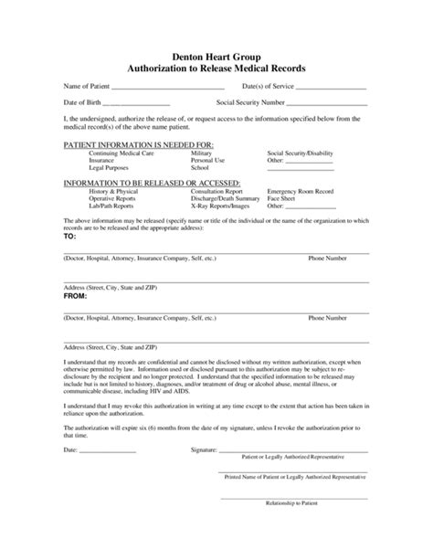 medical records release template 2 legalforms org