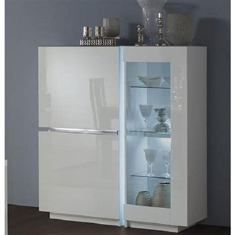 Sellers Kitchen Cabinet For Sale by Nicoli Display Cabinet In White High Gloss With 3 Doors