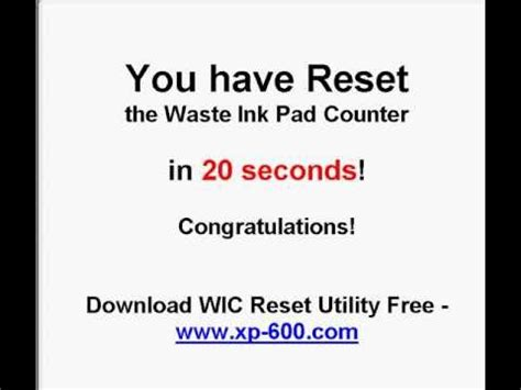 mp280 reset waste ink how to reset epson xp 600 series waste ink pads in 20