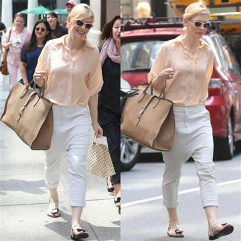 Cate Blanchett And The Of Roger Vivier Shoes by Cate Blanchett Makes Drop Crotch Work Pairs Them