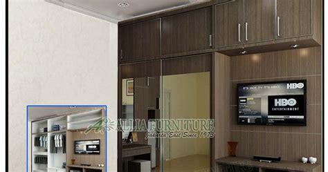Lemari Tv Bongkar Pasang Lemari Pakaian Minimalis Tv Unit F1 Allia Furniture