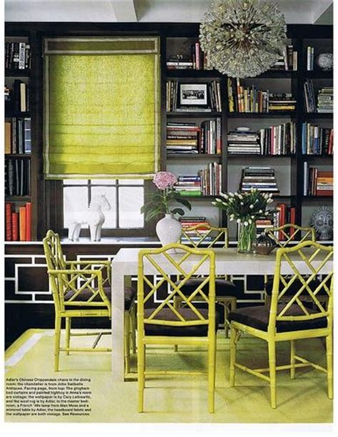Jonathan Adler Dining Room by Beautiful Habitat Happy Colors Lime And Apple Green