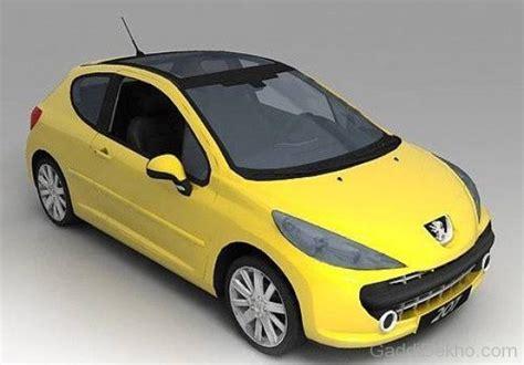 peugeot yellow peugeot 207 car pictures images gaddidekho com