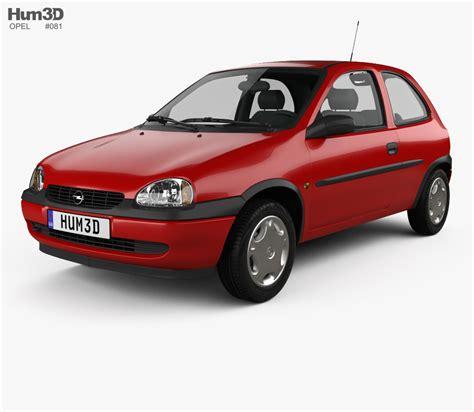 Opel Models by Opel Corsa B 3 Door Hatchback 1998 3d Model Hum3d