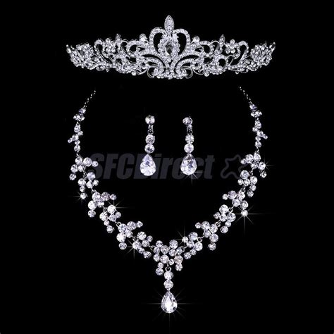 Brautschmuck Set Diadem by Wedding Bridal Jewelry Set Tiara Crown Headpiece