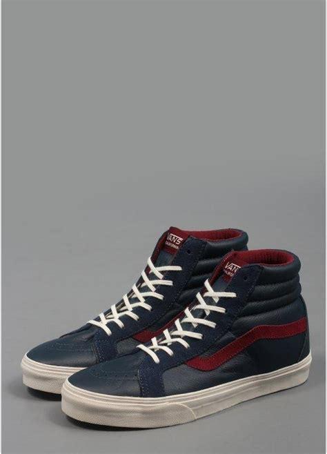 vans california sk8 hi re issue shoes navy triads