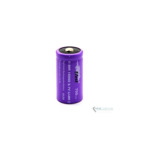 Efest Battery 18350 700mah 37v 105a efest 18350 imr top purple 700 mah 10 5 a nicevaping store mexico