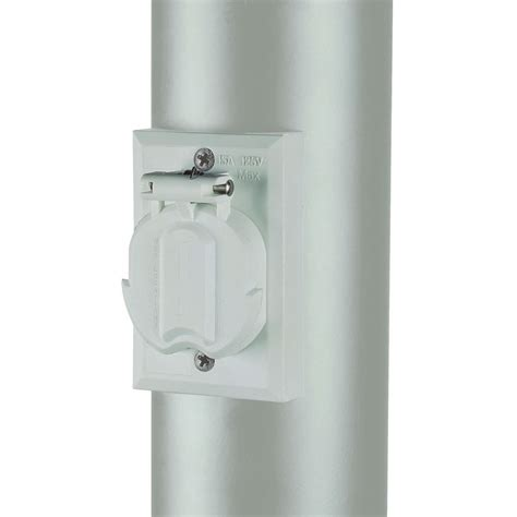 l post electrical outlet convenience electrical outlet accessory for l post