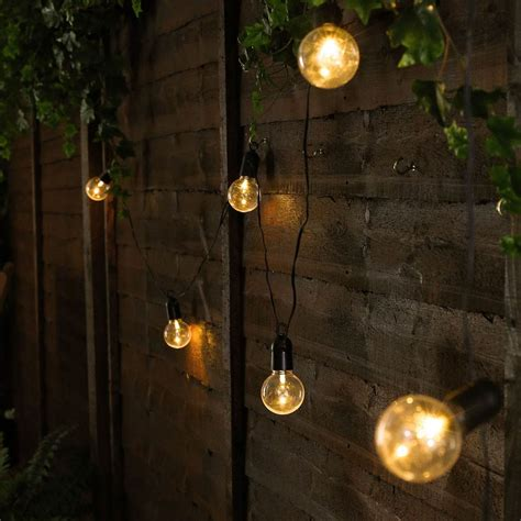 Outdoor Battery Festoon Lights 10 Warm White Leds Clear Outdoor Garden Lights