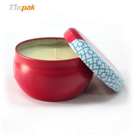 Candle Tins Wholesale Small Vintage Metal Candle Tin For Sale