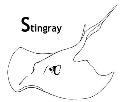 Stingray Coloring Pages sea animal stingray coloring pages for