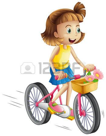 libro berta monta en bici ni 241 o en bicicleta ilustraci 243 n de una ni 241 a feliz que monta una bicicleta en un fondo blanco