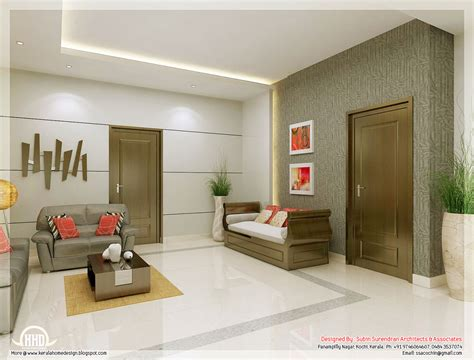 Living Room Interior Design by Awesome 3d Interior Renderings Kerala House Design