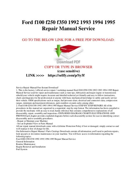 ford         repair manual service