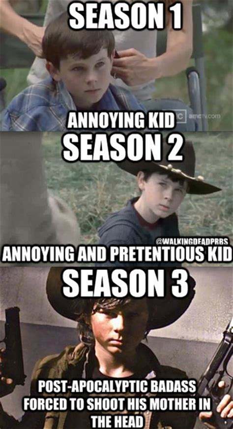 Carl Grimes Memes - walking dead season 5 comic con preview my les paul forum