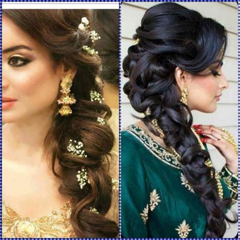 latest wedding hair style for rebonded hair latest hairstyles for girls for indian wedding indian bun