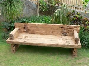 Wooden Bench For Garden Salvoweb Reclaimed Solid Teak Garden Bench