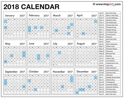 new year vacation schedule 2018 calendar pdf merry and happy new