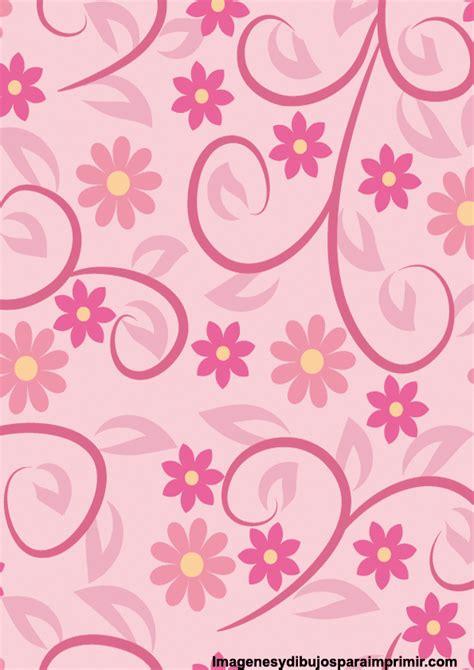 flores de hojas para imprimir papel rosa para imprimir