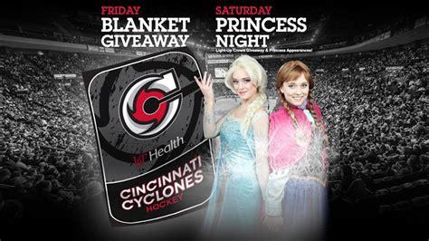 Blanket Giveaway - blanket giveaway and princess night this weekend cincinnati cyclones