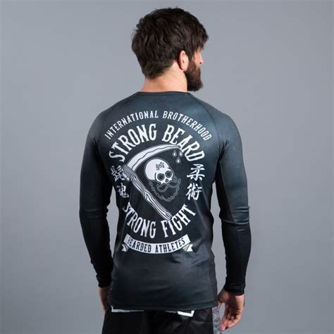 Bearded Ls by Scramble Strong Beard Ls Rashguard Nero