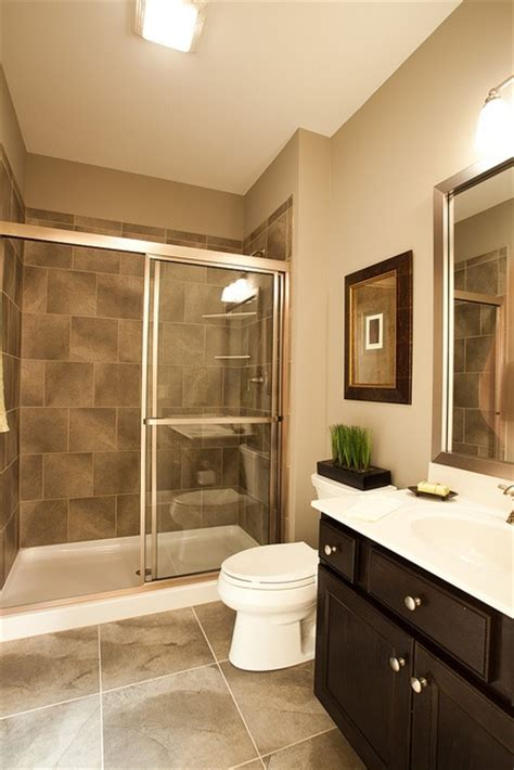 clean and modern bathroom inside the new custom model home by wedgewood building company at