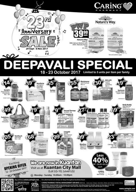 Paket October Special 18 caring pharmacy deepavali special 18 october 23 october