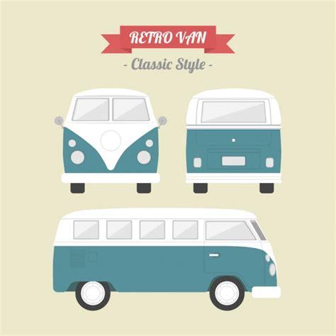 van layout vector vintage van design vector free download