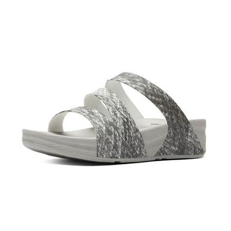 Fitflop Superjelly Twist Silver Black fitflop fitflop design superjelly twist slip on sandal