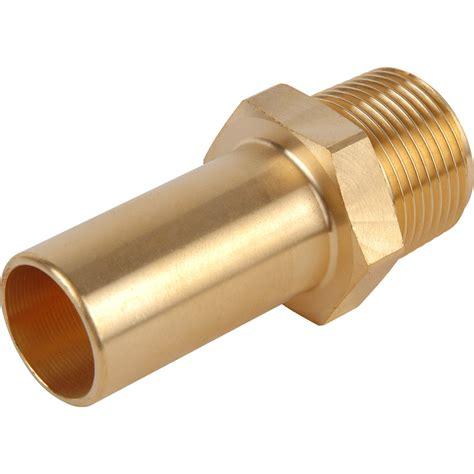 Adaptor Stem Compressed Air Brass Stem Adaptor 28mm X 1 Quot Bspt Toolstation