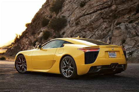 lexus yellow yellow lexus lfa rear view rssportscars com