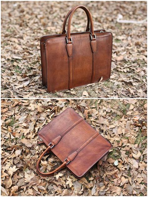 Handmade Mens Leather Bags - 674 best handmade leather briefcase images on