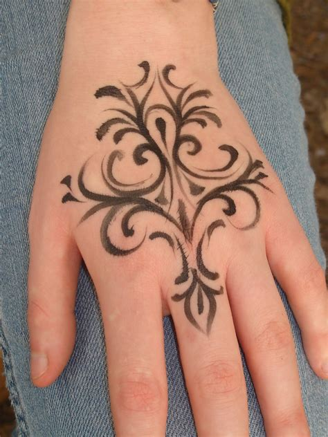 easy hand tattoos henna tatoo designs design