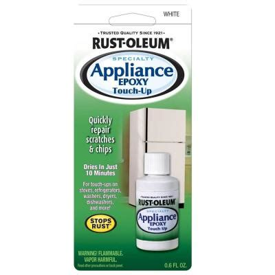rust oleum specialty 0 6 oz gloss white appliance touch up paint 237705 the home depot
