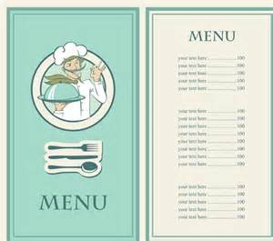 5 restaurant menu in vectorial format