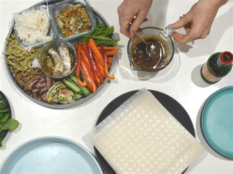 How To Make Rice Paper - fridge clean out rice paper rolls