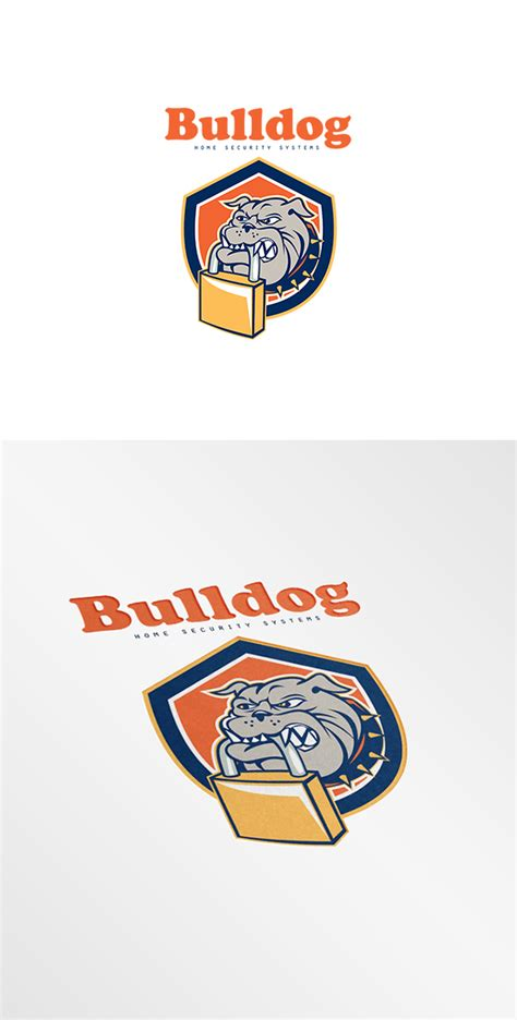 bulldog home security systems logo logo templates on