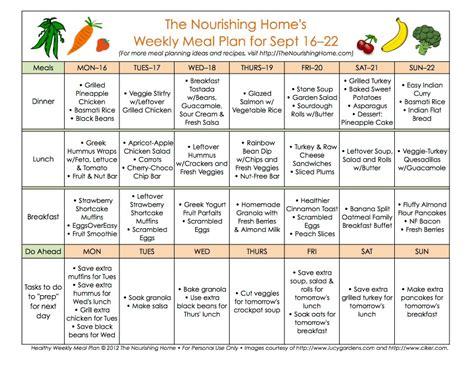 meal plan monday september 16 29 the nourishing home