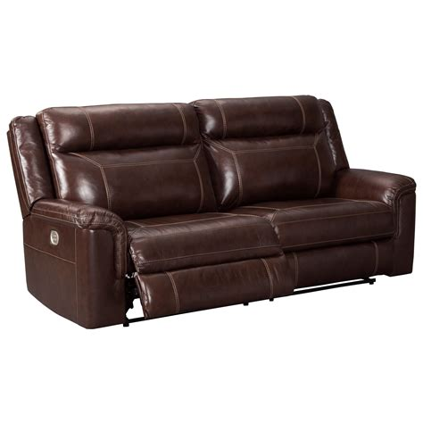 reclining sofa with adjustable headrest signature design wyline 7170115 power reclining