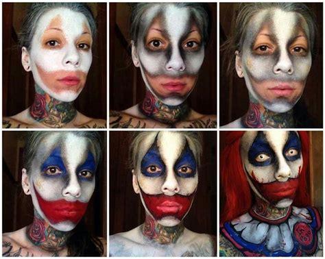 zombie clown tutorial evil clown makeup clowns pinterest makeup evil
