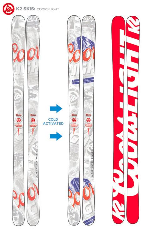 coors light skis for sale hit the slopes with coors light and k2 sports