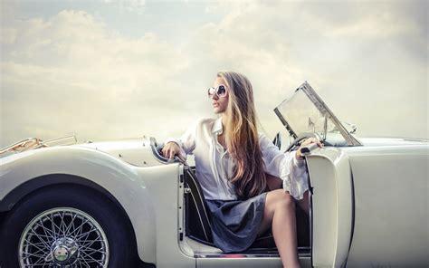 modern woman car wallpaper hd wallpapers rocks